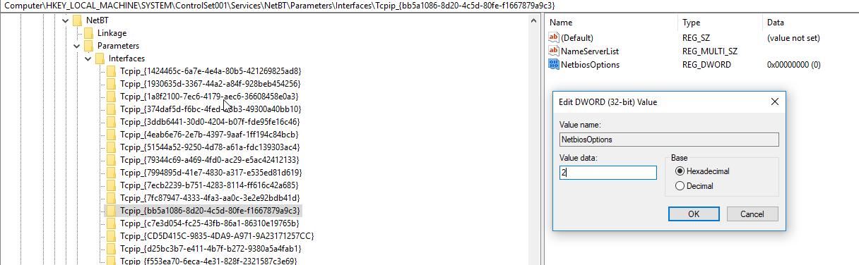 registry edit